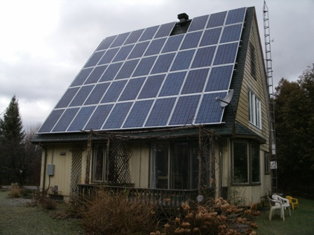 MicroFit PV roofmount installation in Merrickville, Ontario