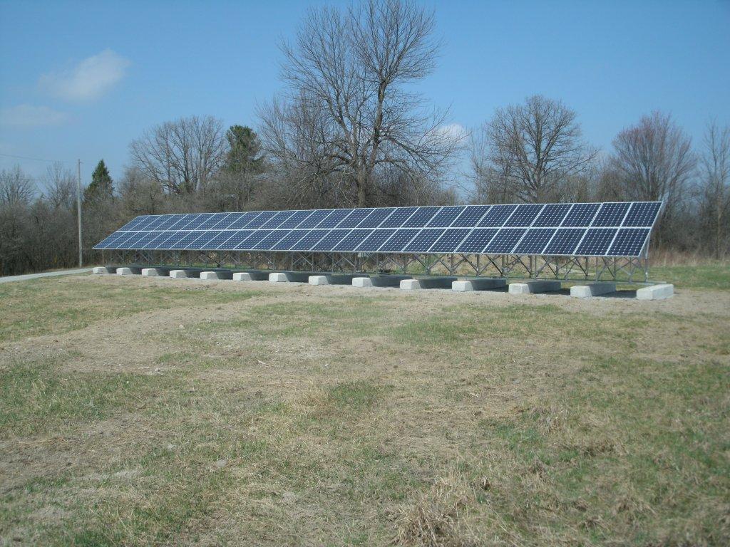 MicroFit PV groundmount installation in Almonte, Ontario