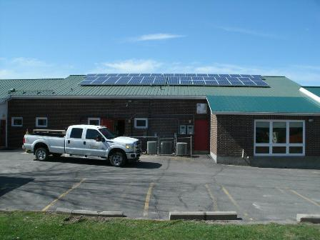 MicroFit PV installation at Community Living North Grenville, Kemptville, Ontario