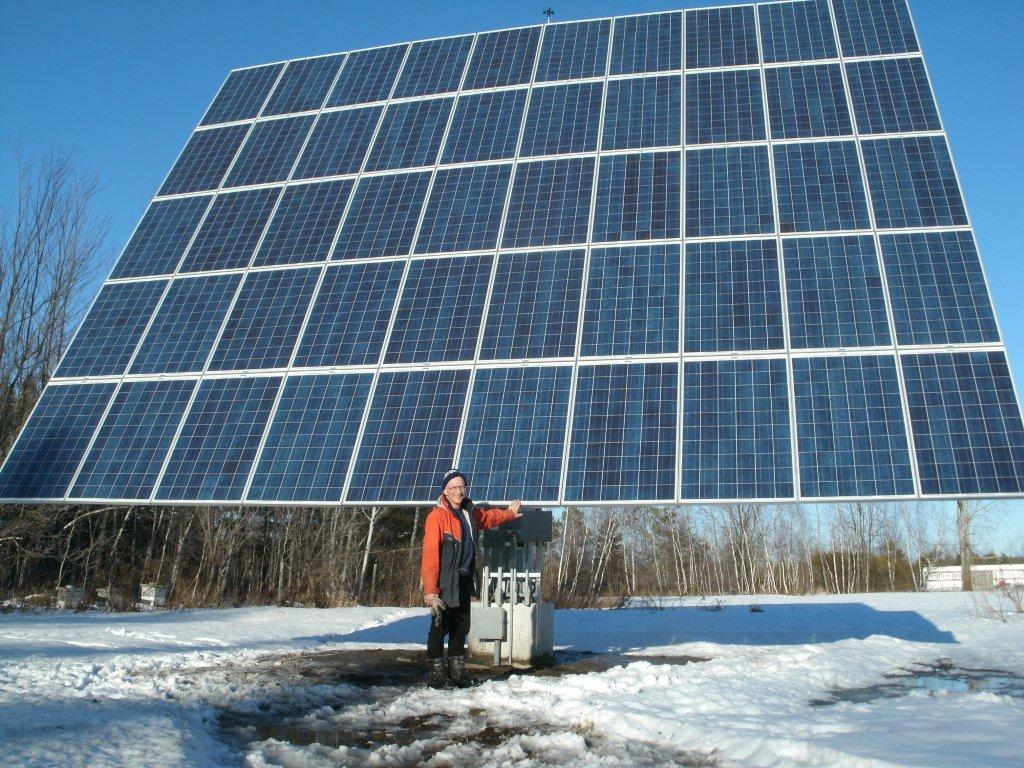 MicroFIT PV groundmount installation in Casselman, Ontario